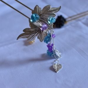 """UP-Grape"" Hand Made Hair Stick/ Hair Accessories"